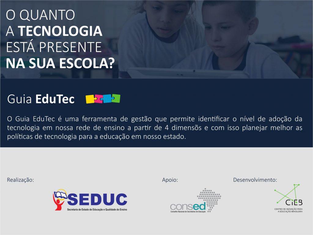 SEDUC implementa o Guia EduTec para diagnosticar uso da tecnologia