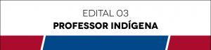 Edital 03 - Professor Indígena